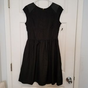 Black dress with faux leather accents gothic dress